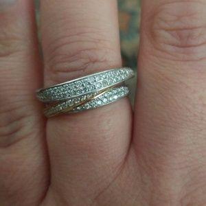 14k Diamond Bijoux trio ring